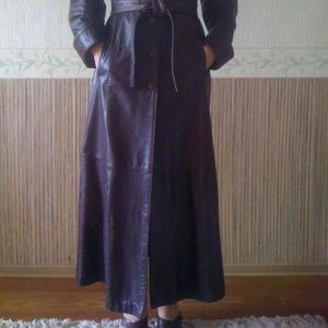 Продам женский кожаный плащ