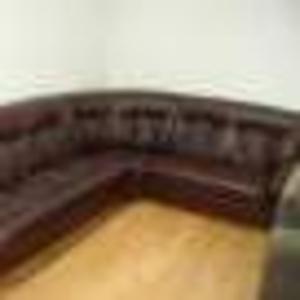 Продаётся кожаный, угловой,  раскладной диван